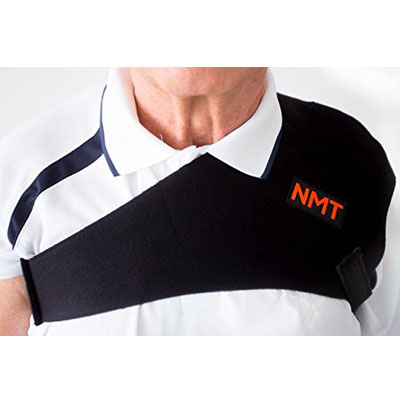 """""""NMT Shoulder Brace"""" ~ Joint Pain, Arthritis, Bursitis, and Tendonitis Relief ~ New Natural Tourmaline Remedy for Sore Rotator Cuff and Frozen Shoulder from NeoMedinaTech"""