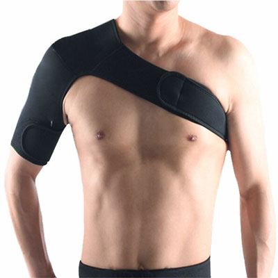 Light Weight Adjustable Gym Sports Single Shoulder Brace Support Strap Wrap Belt Band Pad for Men and Women by Ueasy
