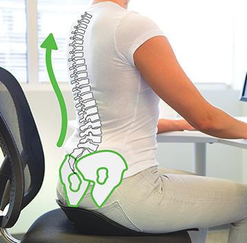 Spinal alignment on the BackJoy