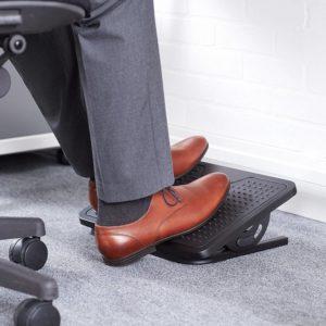 man using a footrest